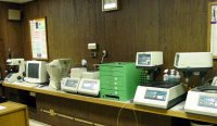 Partial view of lab equipment